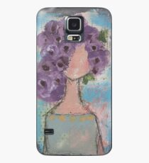 Purple flowers in her hair Case/Skin for Samsung Galaxy