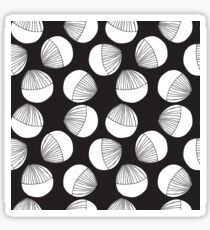 Black and white floral shapes pattern. Sticker