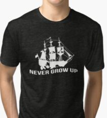 Peter Pan - Never grow up Tri-blend T-Shirt