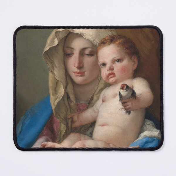 Giovanni Battista Tiepolo. Madonna of the Goldfinch, 1767-70. Mouse Pad