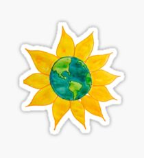 Watercolor Earth Flower Sticker