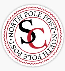 Santa Claus - North Pole Post Stamp Sticker