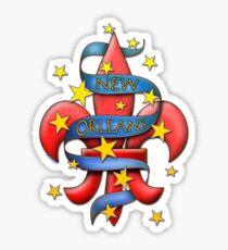 New Orleans Tattoo Art Fleur de Lis T-shirt Sticker