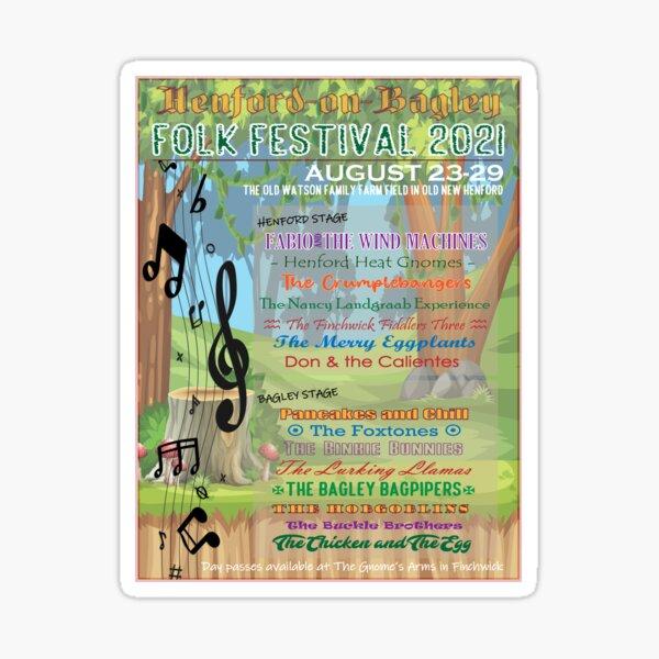 Henford-on-Bagley Folk Festival Sticker