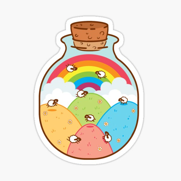Bottle of Sheep Sticker