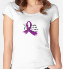 Ghosts Against Domestic Violence Women's Fitted Scoop T-Shirt