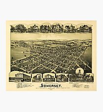 Aerial View of Somerset, Pennsylvania (1900) Photographic Print