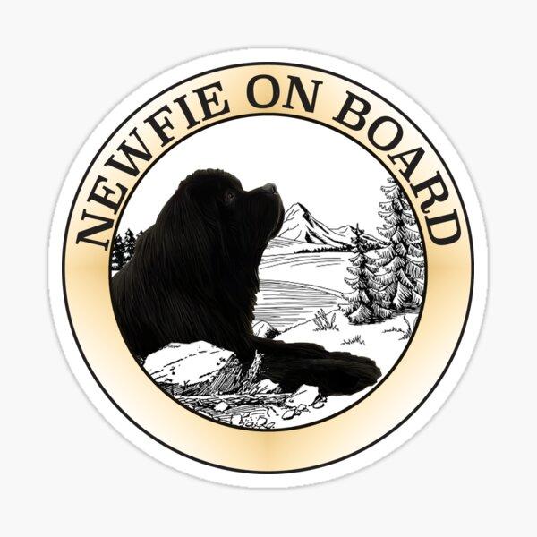 Newfie on Board Decal Sticker