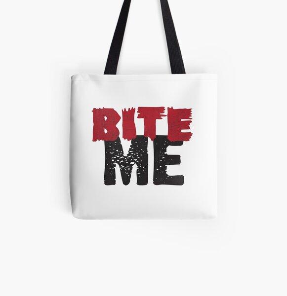 Bite Me All Over Print Tote Bag