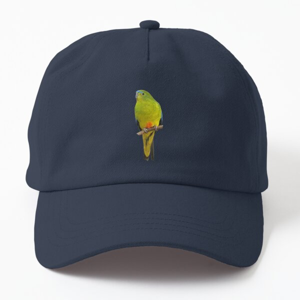 Orange-bellied Parrot 2 Dad Hat