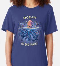 Joyful Kraken Slim Fit T-Shirt