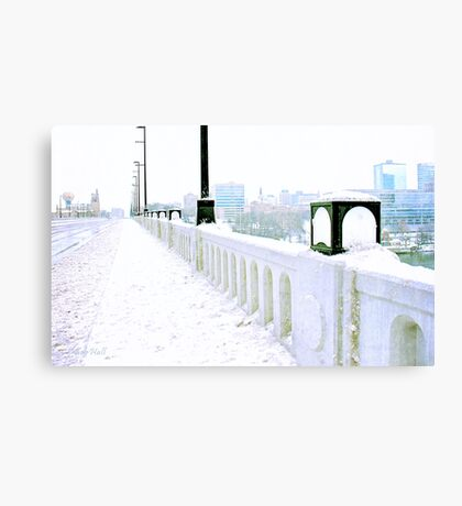 Just a Glimpse of Downtown Knoxville from the Henley Street Bridge, Knoxville, Tennessee Canvas Print
