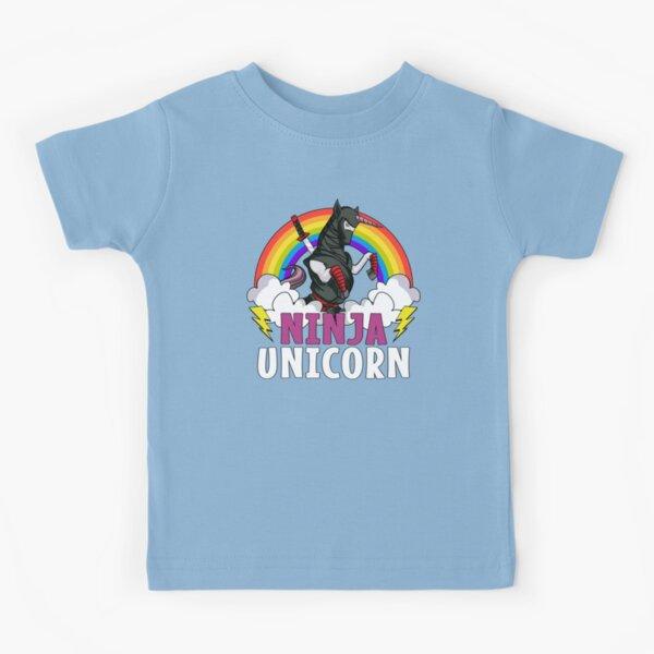 Ninja Unicorn Samurai Kids T-Shirt