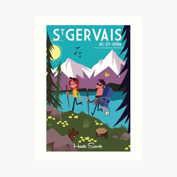 Saint Gervais poster Art Print