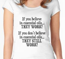 Believe in Essential Oils Women's Fitted Scoop T-Shirt
