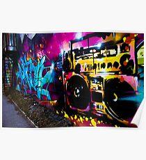 Boombox Graffiti Poster