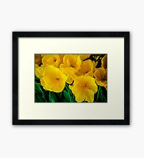 BOLD AND BEAUTIFUL TULIPS Framed Print