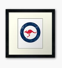 Military Roundels - RAAF - Royal Australian Air Force Framed Print