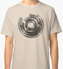 Abstract Maze Distressed Classic T-Shirt