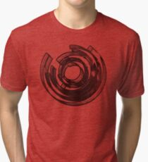 Abstract Maze Distressed Tri-blend T-Shirt