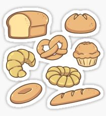 All Types of Bread Pattern Sticker