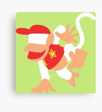 Diddy Kong Vector Canvas Print