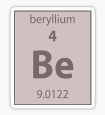 Beryllium Element  Sticker