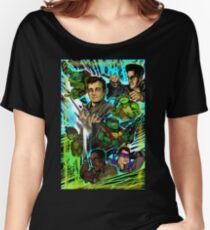 Teenage Mutant Ninja Turtles/Ghostbusters Women's Relaxed Fit T-Shirt