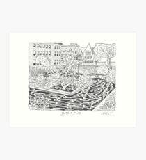 Botany Pond Maze Art Print