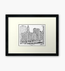 Wrigley Building Maze Framed Print
