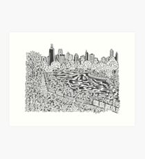 View from Lincoln Park Zoo Maze Art Print
