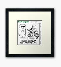 Cartoon : Daleks Gone Green Framed Print