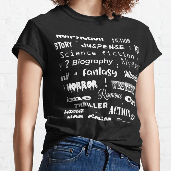 Book Genres Typographic Print Classic T-Shirt