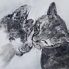 Kitty Kiss (pastel) by Niki Hilsabeck