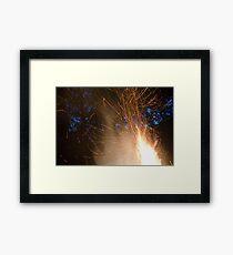 Fire Streaks Framed Print