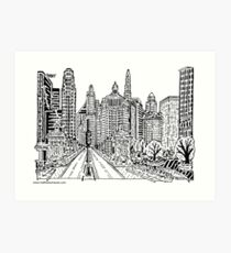 Michigan Ave Bridge Maze Art Print