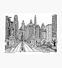 Michigan Ave Bridge Maze Photographic Print