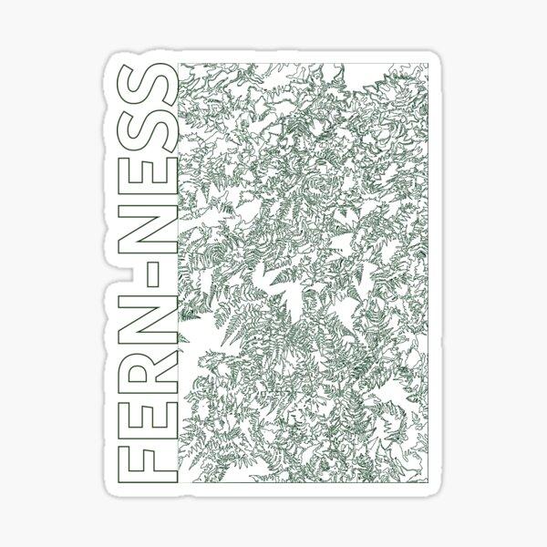 Fern-ness fern leaves line art Sticker
