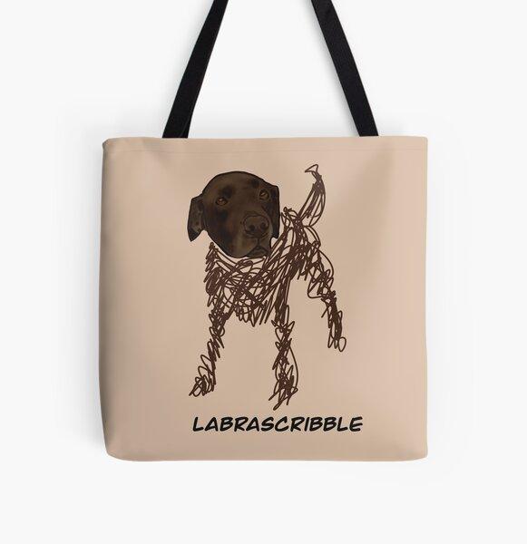 Labrascribble not labradoodle joke All Over Print Tote Bag