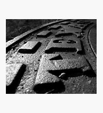 Cast Iron Raised Letters - Texas Photographic Print