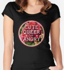 Cute, Queer and Angry Women's Fitted Scoop T-Shirt