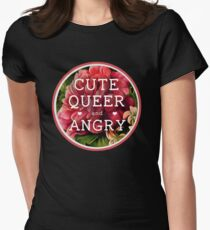 Cute, Queer and Angry Women's Fitted T-Shirt