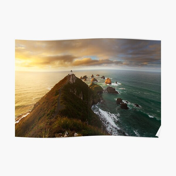 Nugget Point Lighthouse Poster
