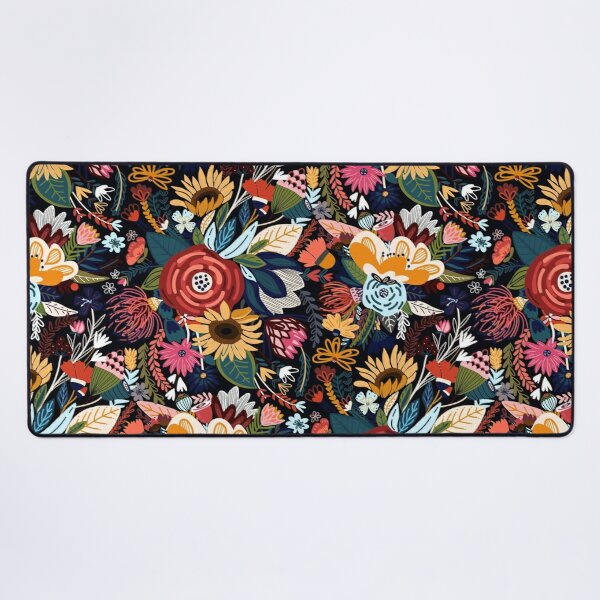 Popping Moody Floral  Desk Mat