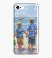 TWO LITTLE BEACH BOYS WALKING iPhone Case/Skin