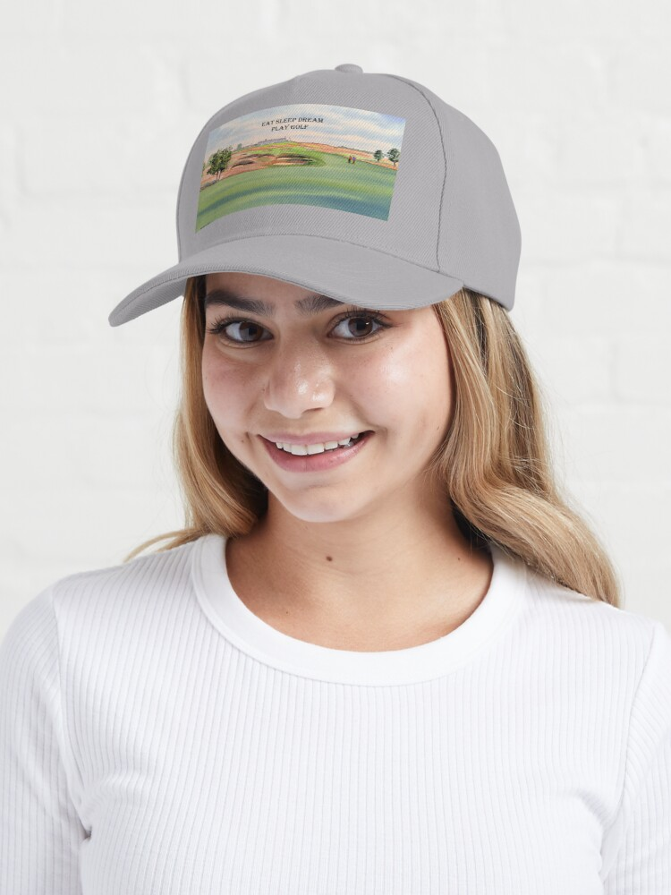 Alternate view of Shinnecock Hills Golf Course with Eat Sleep Dream Play Golf Cap