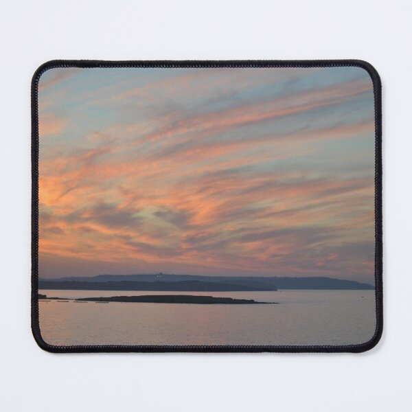 Beautiful Pink and Orange Sunset Sky over the Mediterranean Sea off Malta Mouse Pad