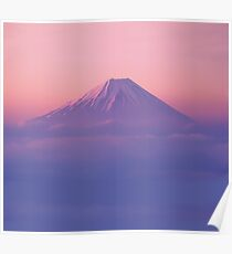 Mt Fuji Above the Clouds  Poster