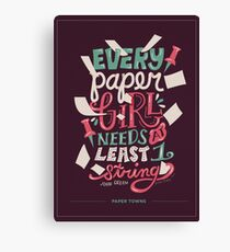 Paper Towns: Paper Girl Canvas Print