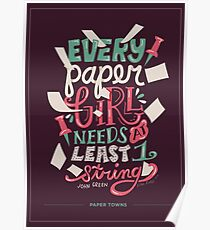 Paper Towns: Paper Girl Poster
